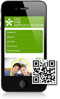 Five Star Mortgage Solutions's mobile site built with Mobidoo