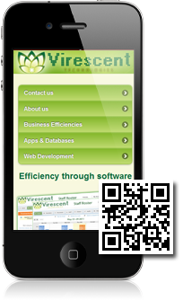 Virescent Technologies is using Mobidoo for their mobile website
