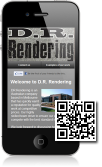 DR Rendering's mobile site built with Mobidoo