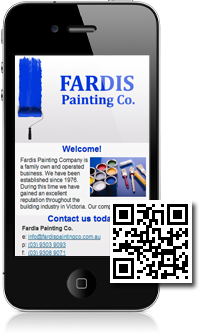 Fardis Painting Co is using Mobidoo for their mobile website