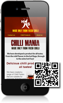 Hot n Spicy Chilli House is using Mobidoo for their mobile website