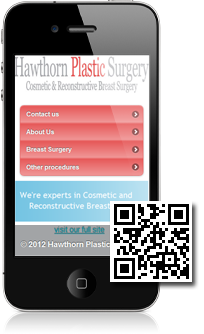 Hawthorn Plastic Surgery is using Mobidoo for their mobile website