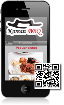 Korean BBQ Restaurant is using Mobidoo for their mobile website